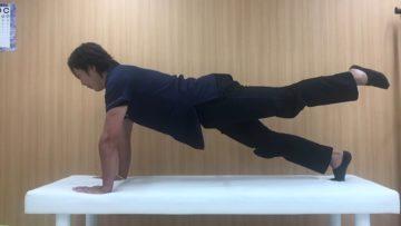 腰痛がなく体幹の安定を向上させたい人向けのプランクシリーズ「レックプルバック」の画像