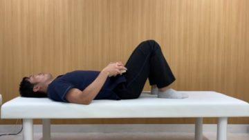 仰臥位で両膝を立てた状態のニュートラルポジション